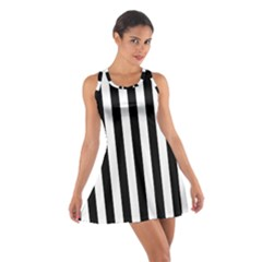 Black And White Stripes Cotton Racerback Dress
