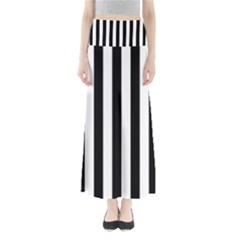 Black And White Stripes Full Length Maxi Skirt