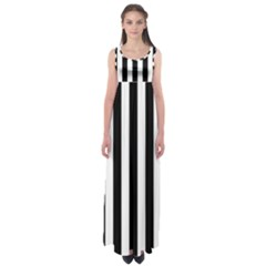 Black And White Stripes Empire Waist Maxi Dress