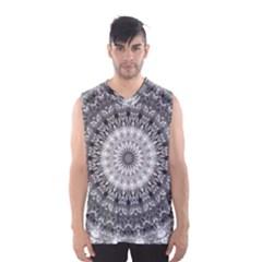 Feeling Softly Black White Mandala Men s Basketball Tank Top by designworld65