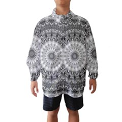 Feeling Softly Black White Mandala Wind Breaker (kids) by designworld65