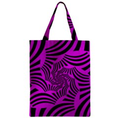 Black Spral Stripes Pink Classic Tote Bag by designworld65