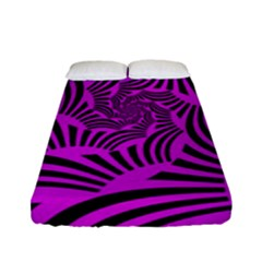 Black Spral Stripes Pink Fitted Sheet (full/ Double Size) by designworld65