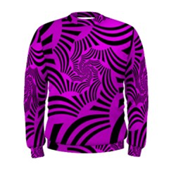 Black Spral Stripes Pink Men s Sweatshirt by designworld65