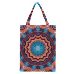 Blue Feather Mandala Classic Tote Bag by designworld65