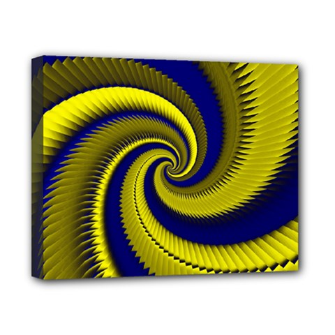 Blue Gold Dragon Spiral Canvas 10  X 8  by designworld65