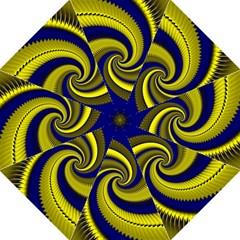 Blue Gold Dragon Spiral Hook Handle Umbrellas (medium)