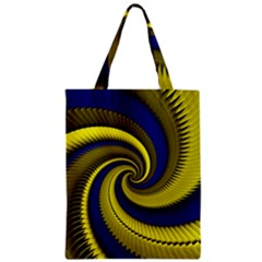 Blue Gold Dragon Spiral Classic Tote Bag by designworld65