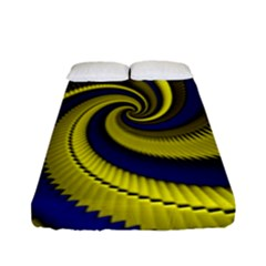 Blue Gold Dragon Spiral Fitted Sheet (full/ Double Size) by designworld65