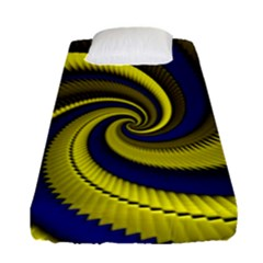 Blue Gold Dragon Spiral Fitted Sheet (single Size)