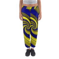 Blue Gold Dragon Spiral Women s Jogger Sweatpants by designworld65