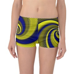 Blue Gold Dragon Spiral Boyleg Bikini Bottoms