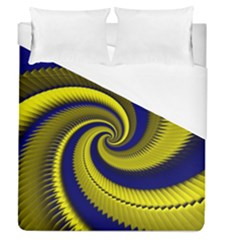 Blue Gold Dragon Spiral Duvet Cover (queen Size)