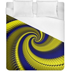 Blue Gold Dragon Spiral Duvet Cover (california King Size)