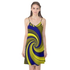 Blue Gold Dragon Spiral Camis Nightgown