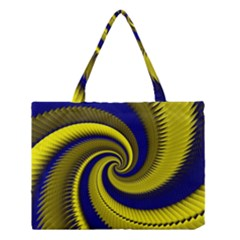 Blue Gold Dragon Spiral Medium Tote Bag