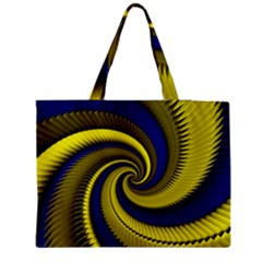 Blue Gold Dragon Spiral Zipper Medium Tote Bag by designworld65