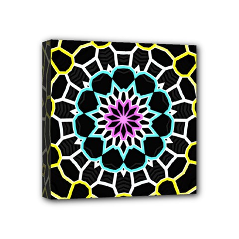 Colored Window Mandala Mini Canvas 4  X 4  by designworld65