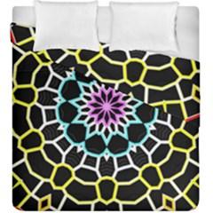 Colored Window Mandala Duvet Cover Double Side (king Size) by designworld65