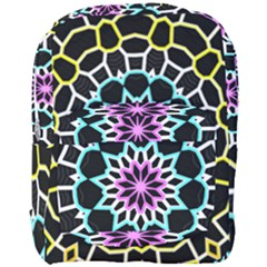 Colored Window Mandala Full Print Backpack by designworld65
