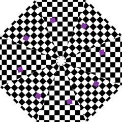 Dropout Purple Check Hook Handle Umbrellas (small) by designworld65