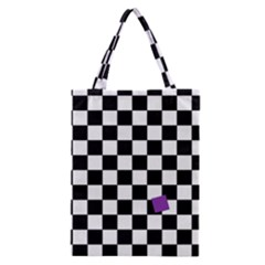 Dropout Purple Check Classic Tote Bag by designworld65