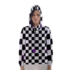 Dropout Purple Check Hooded Wind Breaker (women) by designworld65