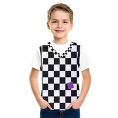 Dropout Purple Check Kids  Sportswear by designworld65