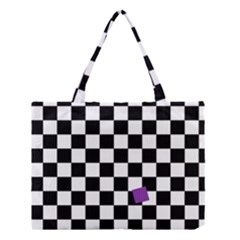 Dropout Purple Check Medium Tote Bag
