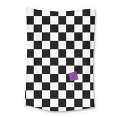 Dropout Purple Check Small Tapestry by designworld65