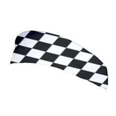 Dropout Purple Check Stretchable Headband by designworld65