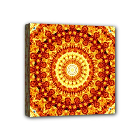 Powerful Love Mandala Mini Canvas 4  X 4  by designworld65