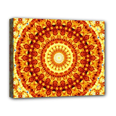 Powerful Love Mandala Deluxe Canvas 20  X 16   by designworld65