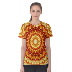 Powerful Love Mandala Women s Cotton Tee by designworld65