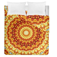 Powerful Love Mandala Duvet Cover Double Side (queen Size) by designworld65
