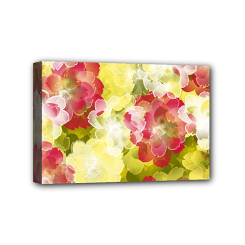 Flower Power Mini Canvas 6  X 4  by designworld65