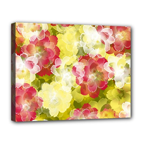 Flower Power Canvas 14  X 11