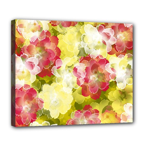 Flower Power Deluxe Canvas 24  X 20