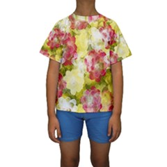 Flower Power Kids  Short Sleeve Swimwear