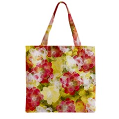 Flower Power Grocery Tote Bag by designworld65