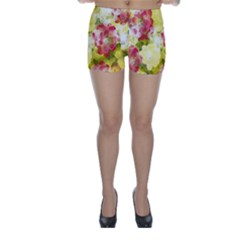 Flower Power Skinny Shorts