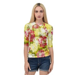 Flower Power Quarter Sleeve Raglan Tee