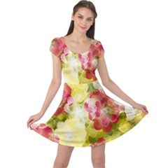 Flower Power Cap Sleeve Dress