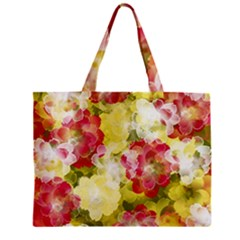 Flower Power Zipper Mini Tote Bag