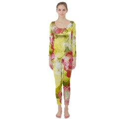 Flower Power Long Sleeve Catsuit