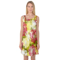 Flower Power Sleeveless Satin Nightdress