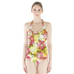 Flower Power Halter Swimsuit