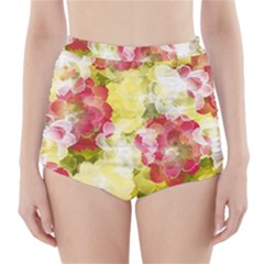 Flower Power High Waisted Bikini Bottoms