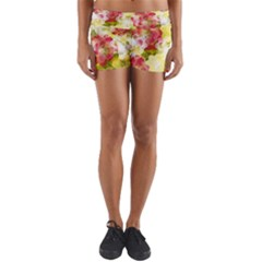 Flower Power Yoga Shorts