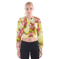 Flower Power Cropped Sweatshirt